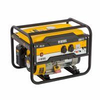 Генератор бензиновый PS 25, 2.5 кВт, 230 В, 15 л, ручной стартер Denzel - 946814