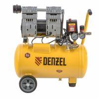 Компрессор DLS950/24 безмаслянный малошумный 950 Вт, 165 л/мин, ресивер 24 л Denzel - 58026