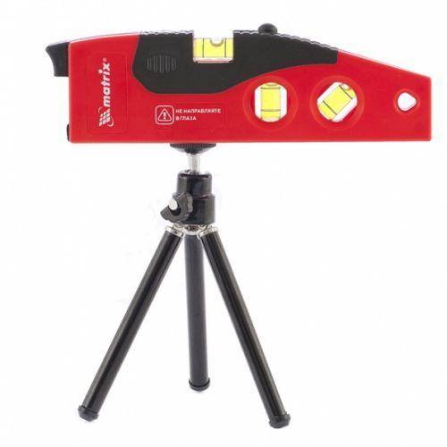 Уровень лазерный, 180 мм, 220 мм штатив, 4 глазка Matrix - 35022