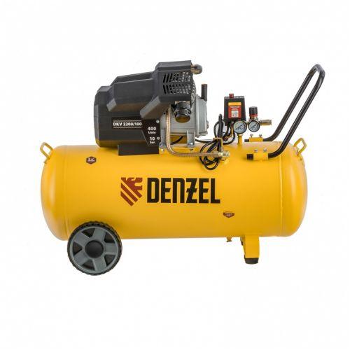 Компрессор воздушный DKV2200/100, Х-PRO 2.2 кВт, 400 л/мин, 100л Denzel - 58079