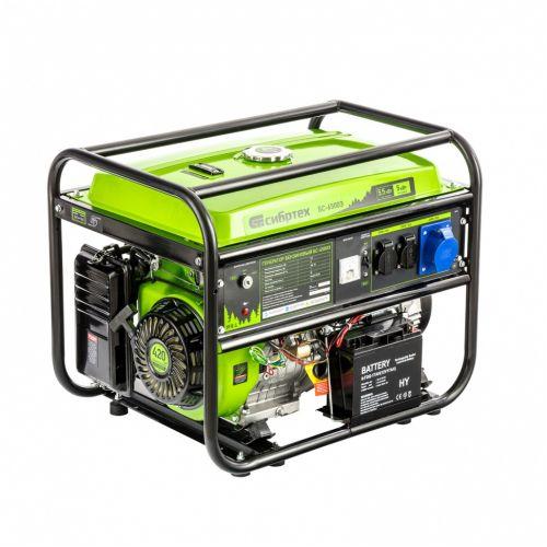 Генератор бензиновый БС-6500Э, 5,5 кВт, 230В, четырехтактный, 25 л, электростартер Сибртех - 94548