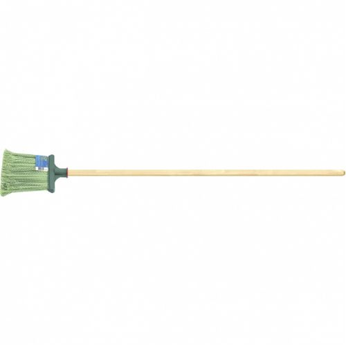 Метла полипропиленовая, 240 x 160 x 1400 мм, плоская распушенная, деревянный черенок, Россия Сибртеx - 63219
