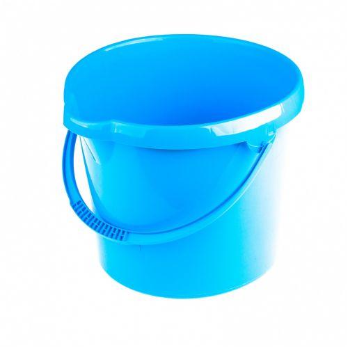Ведро пластмассовое круглое 12 л, голубое Elfe - 92956