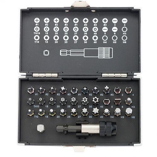 Набор бит, магнитный адаптер, сталь S2, пластиковый кейс, 32 предмета Gross - 11363