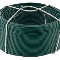 Проволока с ПВХ покрытием, зеленая 1,2 мм, длина 50 м Сибртех - 47771