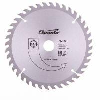 Пильный диск по дереву, 180 х 22 мм, 40 зубьев Sparta - 732425