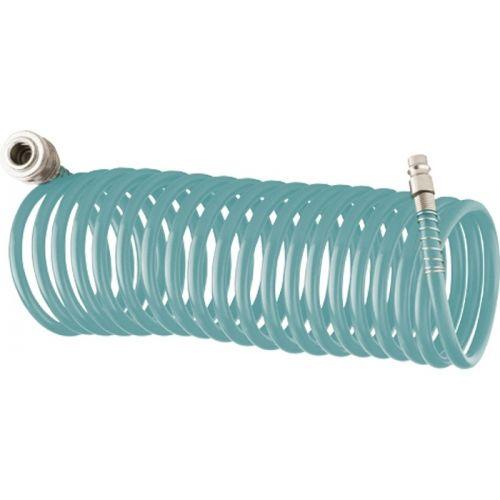 Полиуретановый спиральный шланг профессиональный BASF, 15 м, с быстросъемными соединением Stels - 57009
