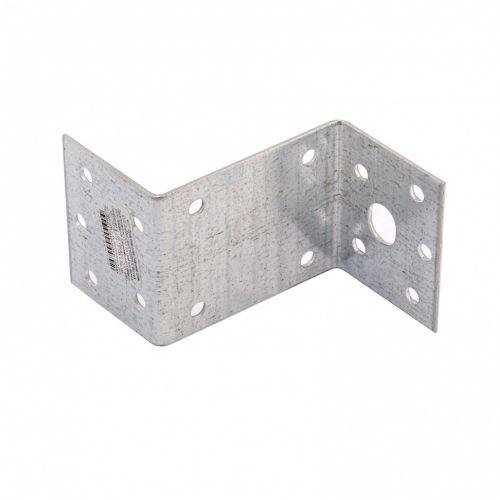 Крепежный уголок Z-образный, KUZ 45 х 90 х 65 мм, цинк Россия Сибртех - 46537