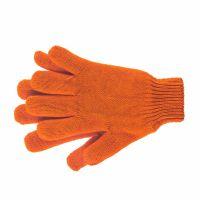 Перчатки трикотажные, акрил, двойные, оранжевый, двойная манжета Россия Сибртех - 68689