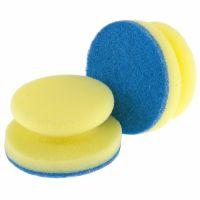 Губки для посуды c тефлоновым покрытием, круглые, D 95 х 50 мм, 2 шт, в картоне, Россия Elfe - 92361