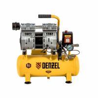 Компрессор DLS650/10 безмаслянный малошумный 650 Вт, 120 л/мин, ресивер 10 л Denzel - 58021