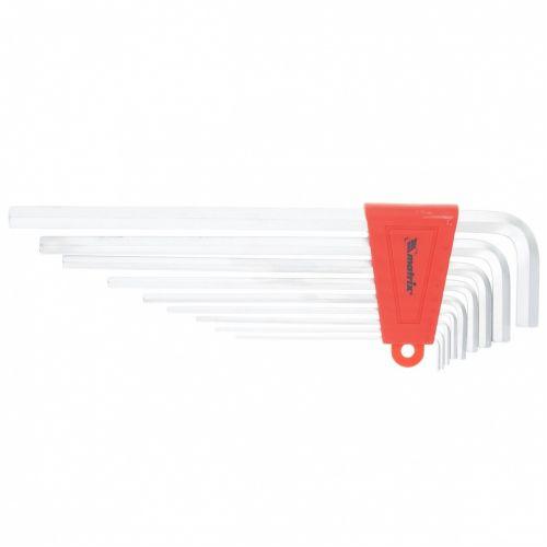 Набор ключей имбусовых HEX, 1,5-10 мм, CrV, 9 шт, экстра-длинные, сатин Matrix - 16409