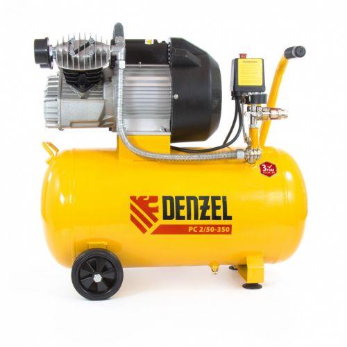 Компрессор пневматический, 2,2 кВт, 350 л/мин, 50 л Denzel - 58081