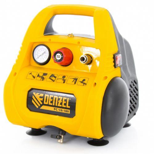Компрессор воздушный безмасляный РС 1/6-180,1, 1 кВт, 180 л/мин, 6 л Denzel - 58057