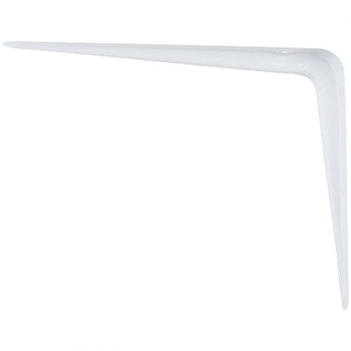 Кронштейн угловой с ребром, 75 х 100 мм, белый Сибртех - 94014