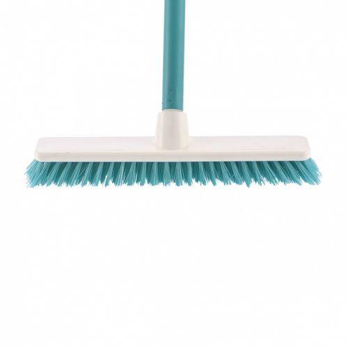 """Щетка пластмассовая """"Shrober"""" для чистки ковров 270 мм, бирюзовая, c черенком, 120 см, D 22 мм Elfe - 93550"""