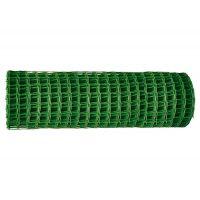 Решетка заборная в рулоне, 1,6х25 м, ячейка 22х22 мм, пластиковая, зеленая Россия - 64525