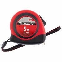 Рулетка Status autostop Magnet, 5 м х 25 мм, двухкомпонентный корпус, зацеп с магнитом Matrix - 31038