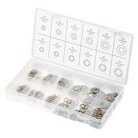 Набор шайб и гроверов, D шайб: 3, 4, 5, 6, 8, 10 мм; D гроверов: 3, 4, 5, 6, 8, 10 мм, 350 предметов Сибртех - 47614