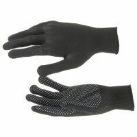 Перчатки Нейлон, ПВХ точка, 13 класс, черные, XL Россия - 67848