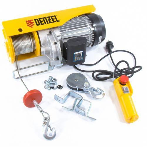Тельфер электрический TF-1000,1 т, 1600 Вт, высота 12 м, 8 м/мин Denzel - 52016