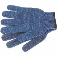 Перчатки трикотажные усиленные, гелевое ПВХ-покрытие, 7 класс, синие Россия Сибртех - 68183