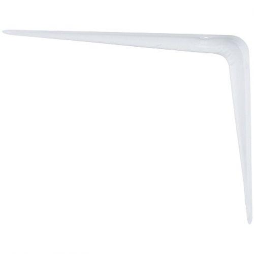 Кронштейн угловой с ребром, 350 х 400 мм, белый Сибртех - 94019