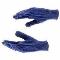 Перчатки трикотажные, акрил, синий, оверлок Россия Сибртех - 68655