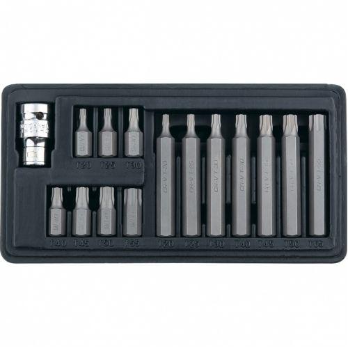 Набор бит TORX, хвостовик-шестигранник, 10 мм, CrV, 15 предметов Stels - 11315