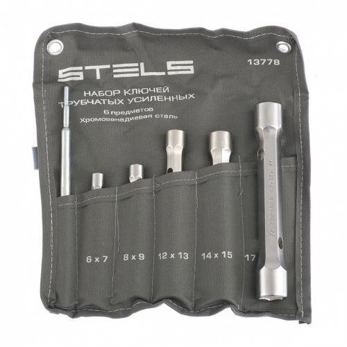 Набор ключей трубок торцевых усиленных 6 предметов, CrV Stels - 13778