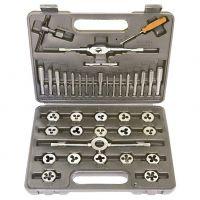 Набор метчиков и плашек М3-М12, плашко-метчикодержатель, 40 предметов, пластиковый бокс Sparta - 773155