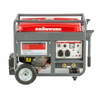 Бензиновая сварочная генераторная установка LK 210Е, 5.0 кВт, 220 В, бак 25 л, электростартер Kronwerk - 94679