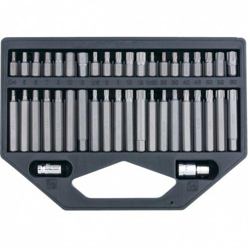 Набор бит HEX, TORX, SPLine, хвостовик-шестигранник 1/2, CrV, 42 шт. Stels - 11318
