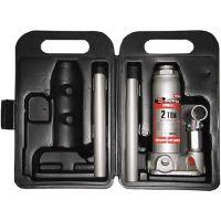 Домкрат гидравлический бутылочный, 2 т, высота подъема 181-345 мм, в пластиковый кейсе Matrix Master - 50750