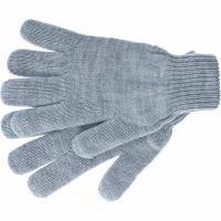 Перчатки трикотажные, акрил, серая туча, двойная манжета Россия Сибртех - 68672