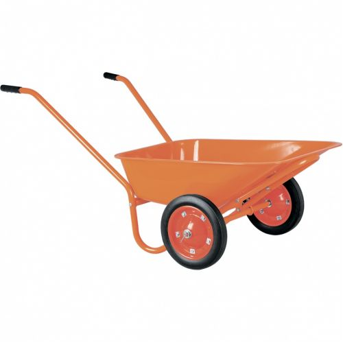 Тачка садово-строительная ТСО2-02-01, крашенная, 2 цельнолитых колеса, 120 кг, 90 л Россия - 68929