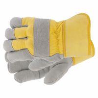 Перчатки спилковые комбинированные, усиленные, утолщенные, размер XL Сибртех - 67903