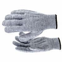 Перчатки трикотажные, акрил, серое мулине, оверлок Россия Сибртех - 68654