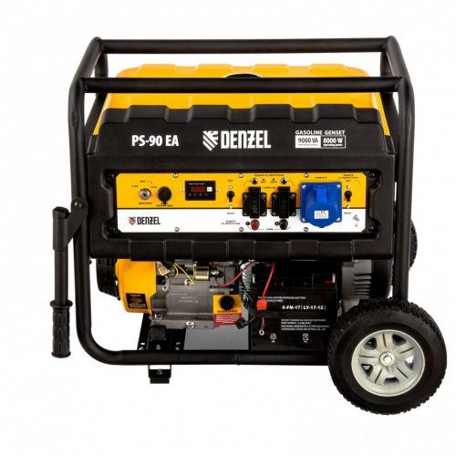 Генератор бензиновый PS 90 EA, 9.0 кВт, 230В, 25 л, коннектор автоматики, электростартер Denzel - 946934