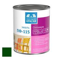 Эмаль Ленинградские краски ПФ-115 Оптимум темно-зеленая 0,9 кг