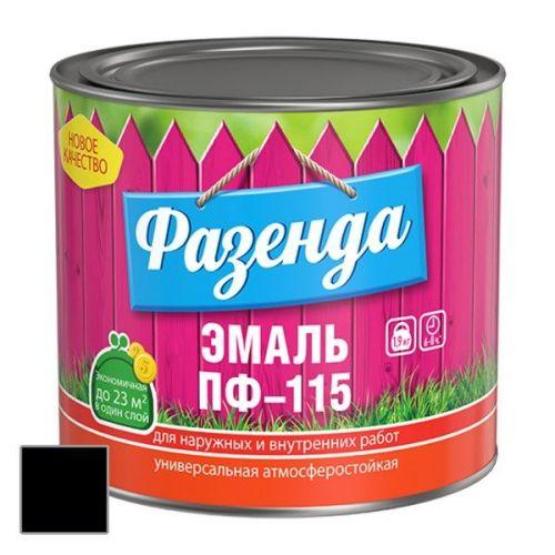 Эмаль Ленинградские краски ПФ-115 Фазенда черная 1,9 кг