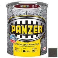 Краска для металла Panzer молотковая серая 0,25 л