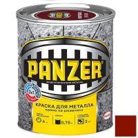 Краска для металла Panzer гладкая Вишневая 0,75 л