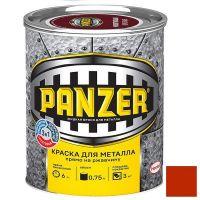 Краска для металла Panzer гладкая красная 0,75 л