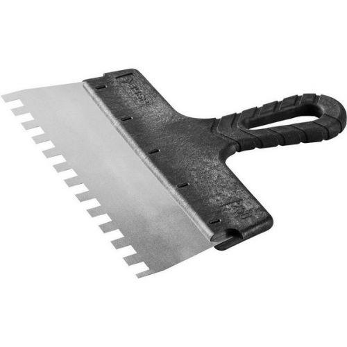 Шпатель зубчатый Зубр Мастер 10078-25-10 250 мм зуб 10х10 мм