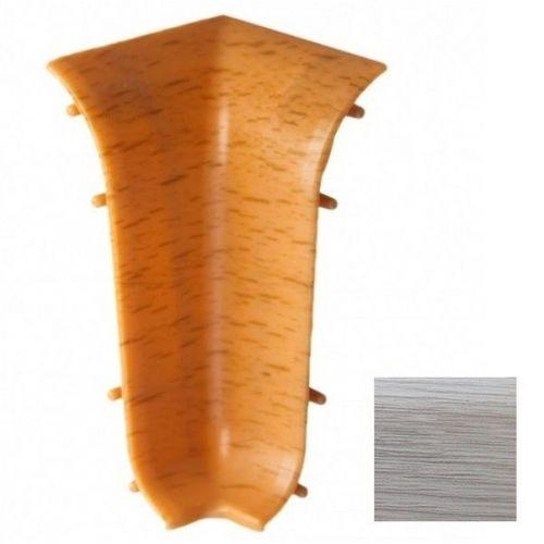 Угол внутренний для плинтуса ПВХ T.рlast 100 Дуб Снежный 1 штука