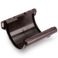 Соединитель желоба Galeco ПВХ D152/100 мм с резиновым уплотнителем RAL 8019 коричневый