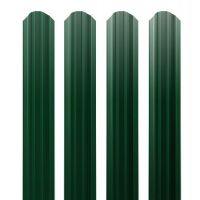 Штакетник прямоугольный Grand Line РЕ 0,45 фигурный Ral 6005 резка