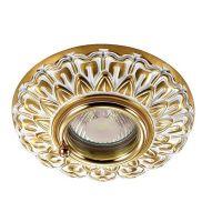 Светильник встраиваемый Novotech Daisy 370051 NT15 287 белый/золото IP44 GX5.3 50W 12V