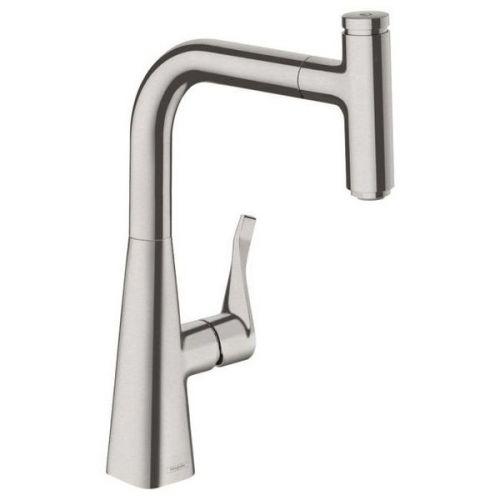 Смеситель для кухни Hansgrohe Metris Select 240 14857800 с выдвижным изливом